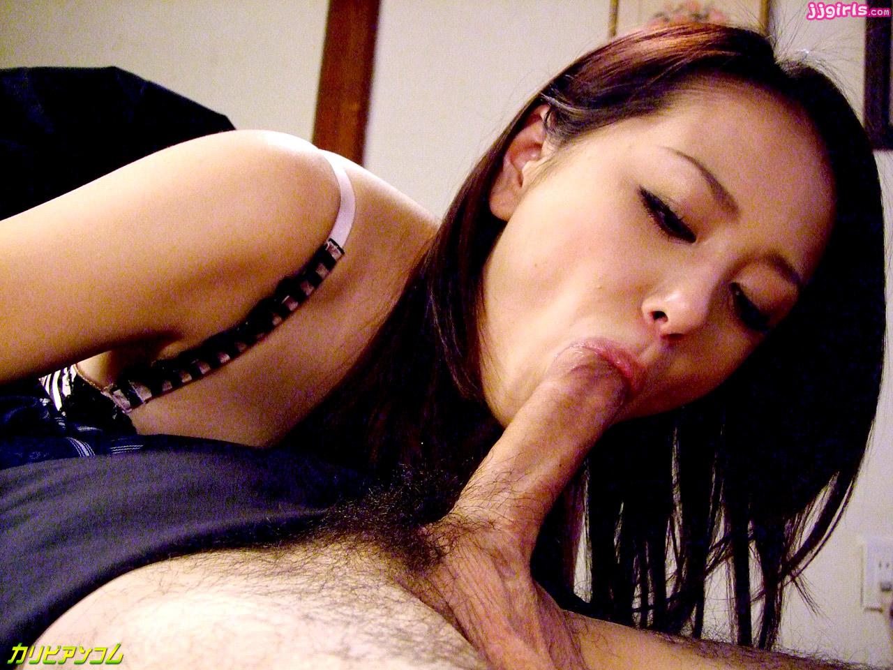 Airi pretty asian model can kiss her own tits 6